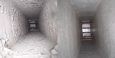 Alnor - kanały wentylacyjne przed oraz po czyszczeniu