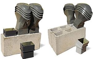 Uniwersal - wywietrzniki Schiedel/Bryza wraz z pustakami wentylacyjnymi