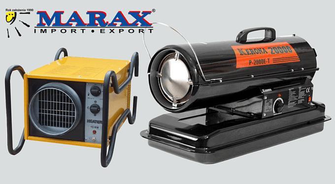 Nagrzewnice powietrza w ofercie Marax - przegląd