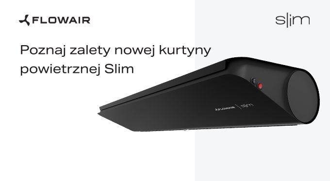 Nowa kurtyna powietrzna Slim z wbudowanym czujnikiem ruchu
