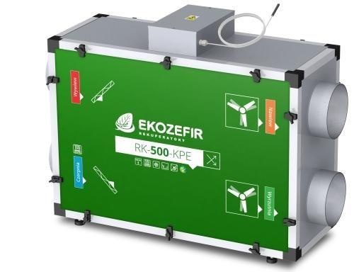 Centrala wentylacyjna z odzyskiem ciepła Ekozefir RK -KPE