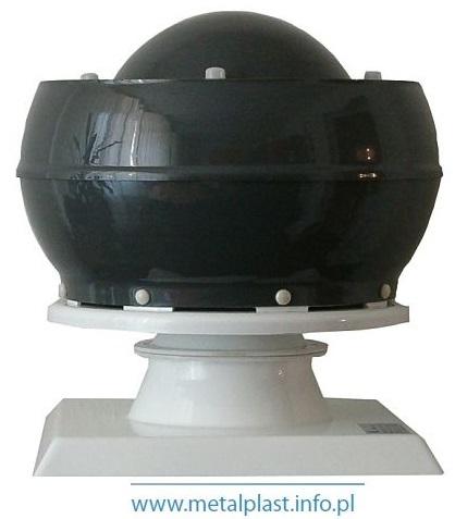 Wentylator dachowy WDk z pionowym wyrzutem powietrza z podstawą