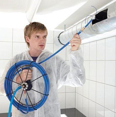 kołowrotek ciśnieniowy Wöhler DH 420 z metromierzem do czyszczenie za pomocą sprężonego powietrza