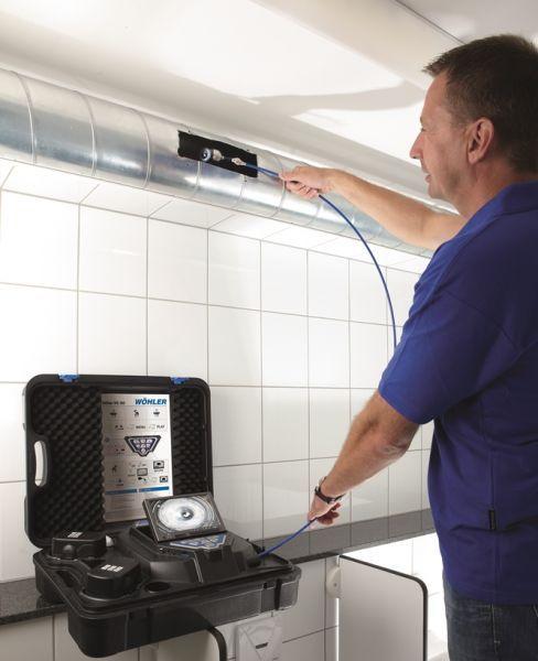 inspekcja kanału wentylacyjnego za pomocą kamery Wöhler VIS 350