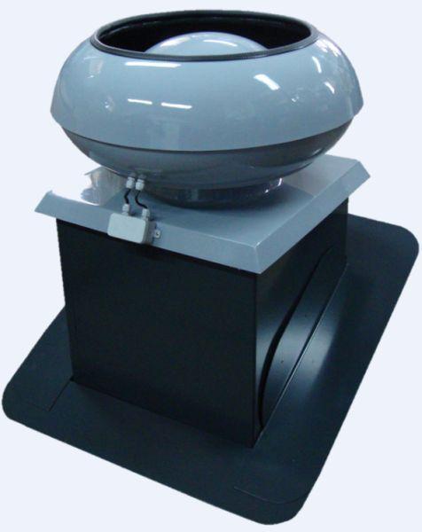 Uniwersal - wentylator dachowy Vertical zintegrowany z cokołem stalowym regulowanym CSR