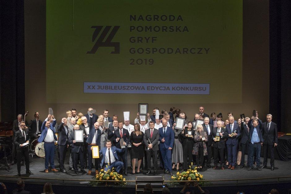 Jubileuszowa gala przyznania nagrody Gryfa Gospodarczego
