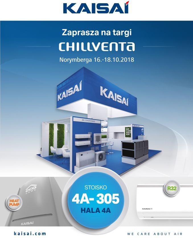 Premiera produktów KAISAI na międzynarodowych targach Chillventa 2018