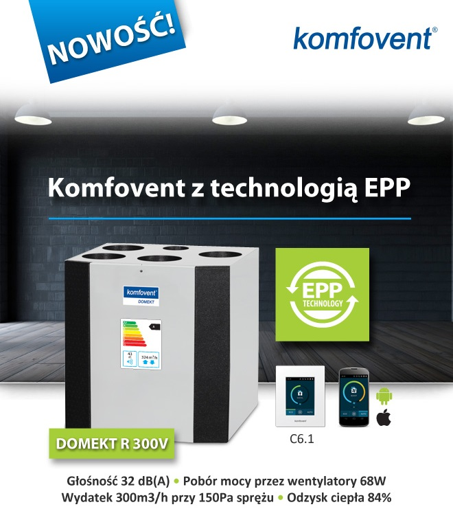 Komfovent z technologią EPP