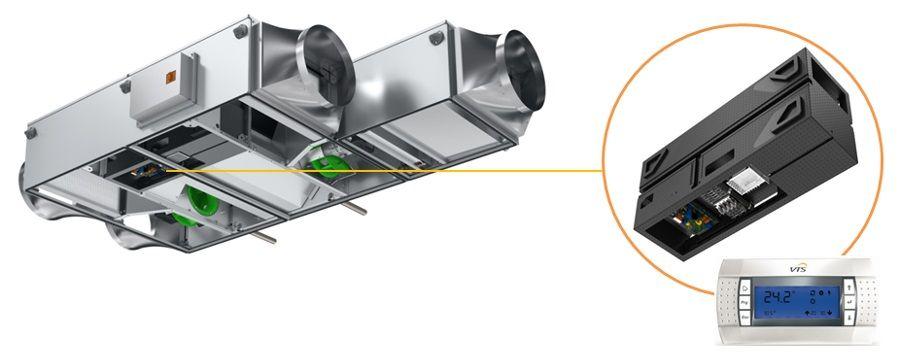 automatyka w centralach Ventus Compact - VTS