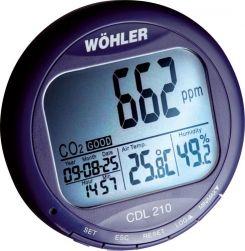 Wöhler CDL 210 - miernik stężenia dwutlenku węgla