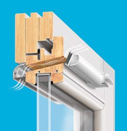 Nawiewnik ciśnieniowy VENTAIR II TRDn okno drewno Brevis