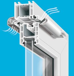 Nawiewnik ciśnieniowy VENTAIR II TRDn okno pcv Brevis
