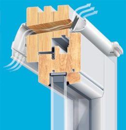 Nawiewniki powietrza ciśnieniowe VENTAIR II okno drewniane Brevis