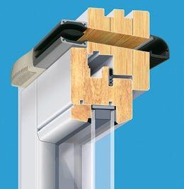 Nawiewniki powietrza higrosterowane HIGROSTER drewno ościeżnica Brevis