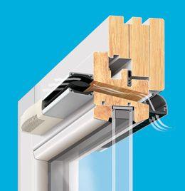 Nawiewniki powietrza higrosterowane HIGROSTER okno drewniane montaż w skrzydle Brevis