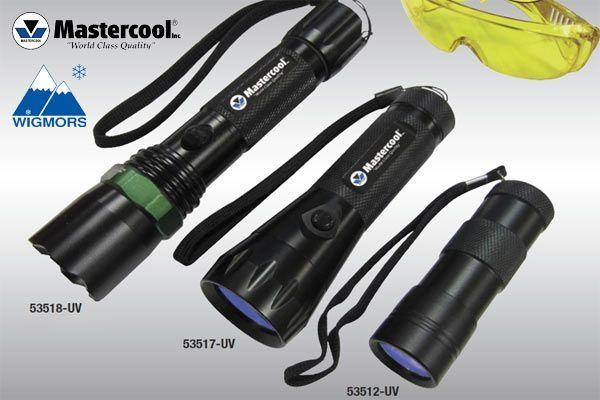 Lampy UV produkcji Mastercool do wykrywania nieszczelności  Wigmors