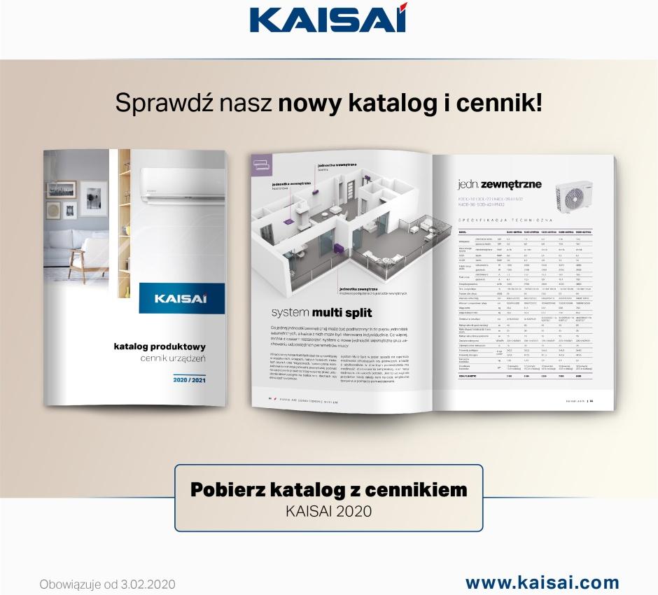 Nowy cennik i katalog marki KAISAI 2020/2021