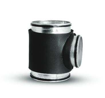 Trójniki okrągłe z izolacją z kauczuku do instalacji rekuperacji