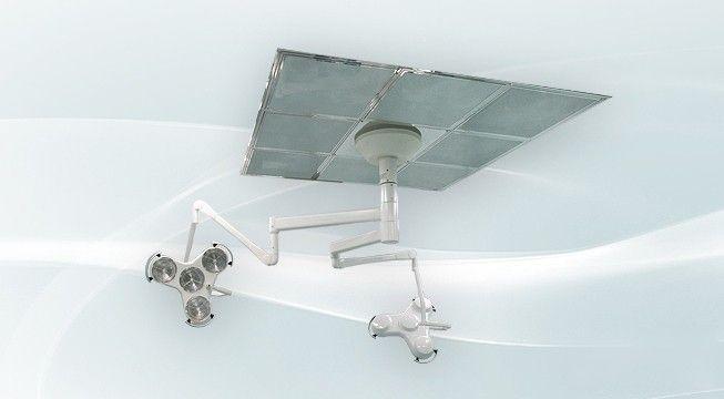 Stropy do sal operacyjnych z nawiewnikami laminarnymi