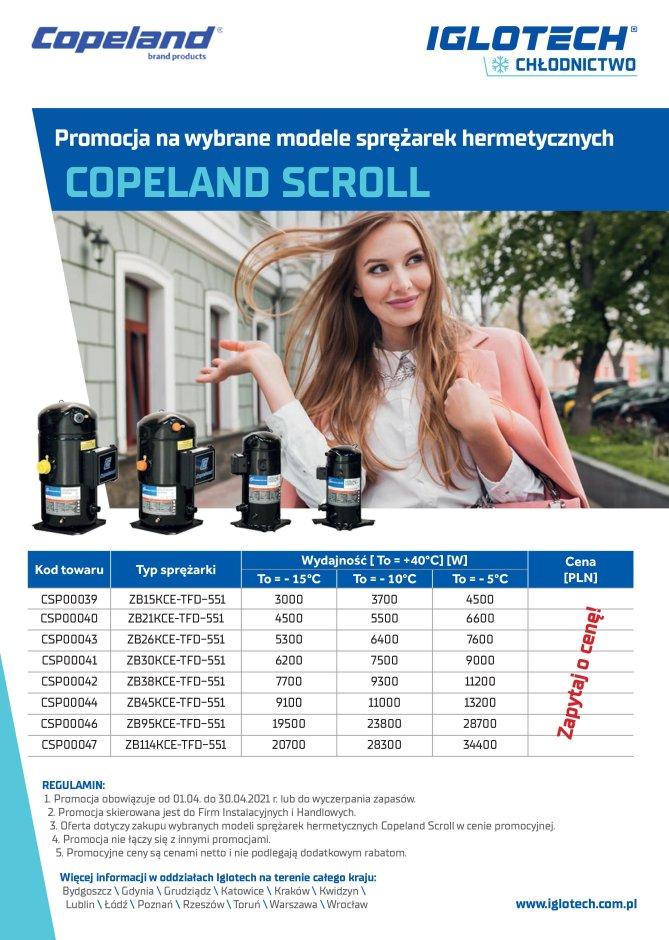 Sprężarki Copeland Iglotech Promocja